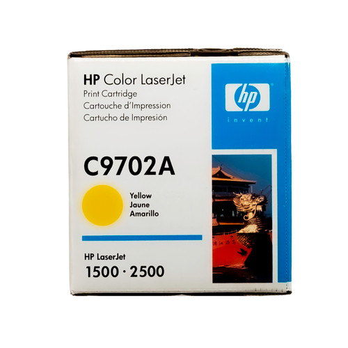 Original HP 121A Yellow C9702A LaserJet Toner Cartridge