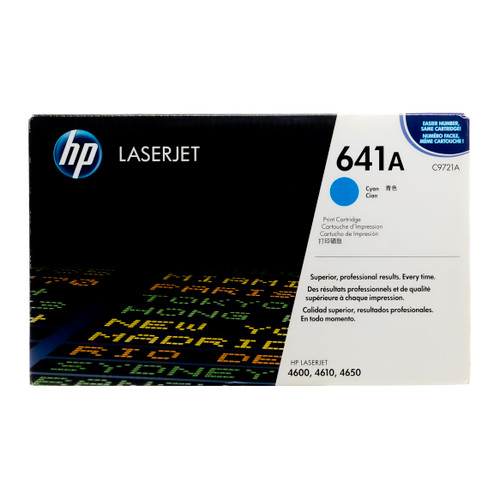 Original HP 641A Cyan C9721A LaserJet Toner Cartridge