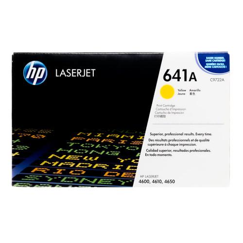 Original HP 641A Yellow C9722A LaserJet Toner Cartridge