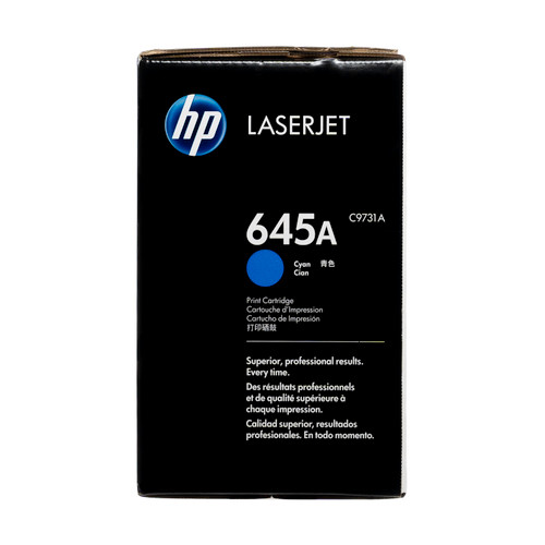 Original HP 645A Cyan C9731A LaserJet Toner Cartridge