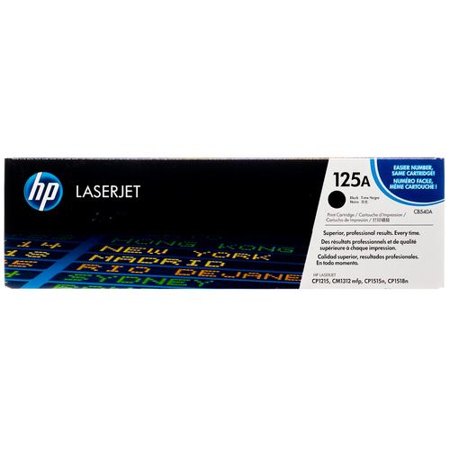 Original HP 125A Black CB540A LaserJet Toner Cartridge
