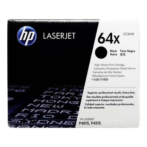 Original HP 64X CC364X Black High-Yield LaserJet Toner Cartridge