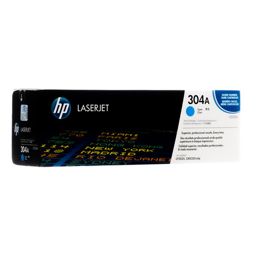 Original HP 304A Cyan CC531A LaserJet Toner Cartridge