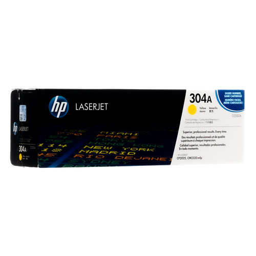 Original HP 304A Yellow CC532A LaserJet Toner Cartridge