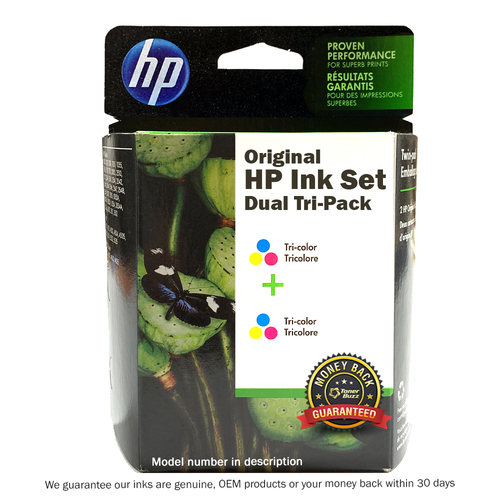 Original HP CC580FN 140 22 DeskJet 3920 40 Tri-Color Twin-Pack
