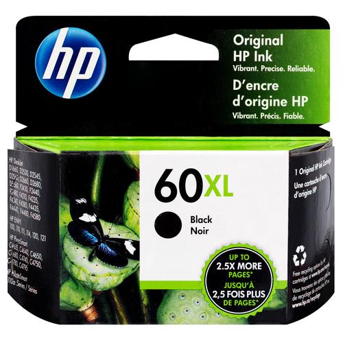 Original HP CC641WN #140 #60XL DeskJet D2500 2530 Black High-Yield Ink Cartridge