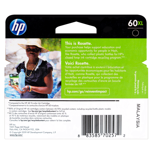 CC641WN | HP 60XL | Original HP High-Yield Ink Cartridge - Black