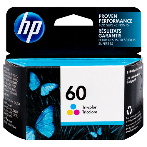 Original HP 60 Tri-color Ink Cartridge
