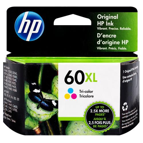 CC644WN | HP 60XL | Original HP High-Yield Ink Cartridge – Tri-Color