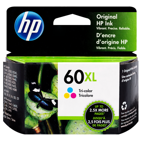 Original HP 60XL High Yield Tri-color Ink Cartridge