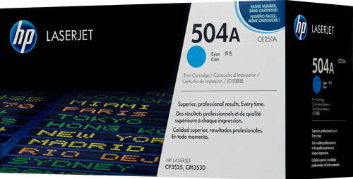 HP 504A Cyan CE251A LaserJet Toner Cartridge