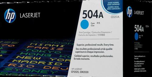HP 504A Cyan CE251A LaserJet Toner Cartridge