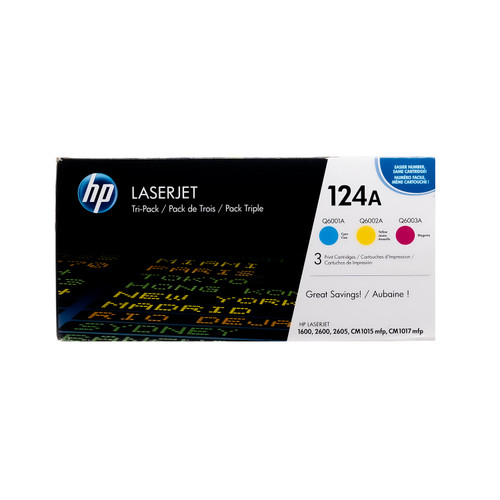 CE257A | HP 124A | Original HP Toner Cartridge – Tri-Color