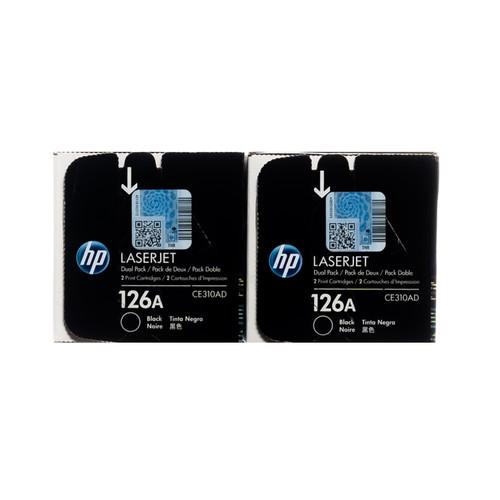 CE310AD | HP 126A | Original HP Dual Pack Toner Cartridges – Black
