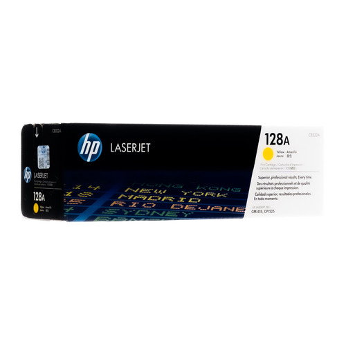 Original HP 128A Yellow CE322A LaserJet Toner Cartridge