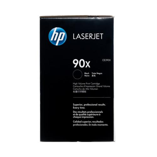 Original HP 90X CE390X Black High-Yield LaserJet Toner Cartridge