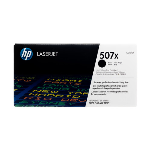 Original HP 507X Black CE400X High-Yield LaserJet Toner Cartridge