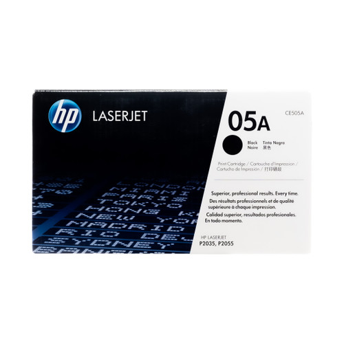 Original HP 05A CE505A Black LaserJet Toner Cartridge