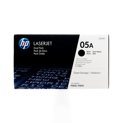 CE505D | HP 05A Dual Pack | Original HP LaserJet Toner Cartridges - Black