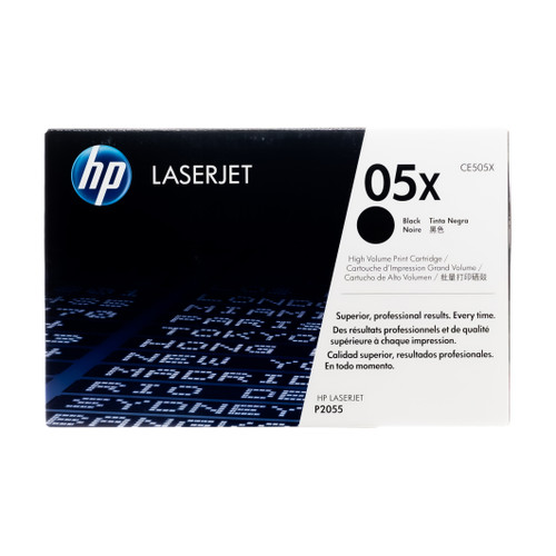 Original HP 05X CE505X Black High-Yield LaserJet Toner Cartridge