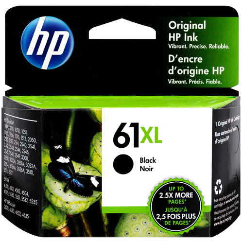Original HP 61XL High Yield Black Ink Cartridge