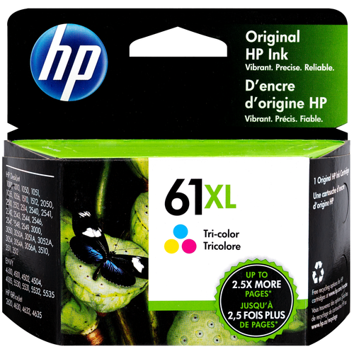 Original HP 61XL High Yield Tri-color Original Ink Cartridge