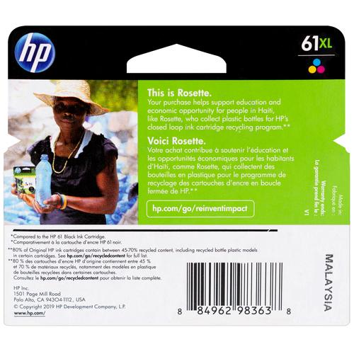 CH564WN | HP 61XL | Original HP High-Yield Ink Cartridge - Tri-Color