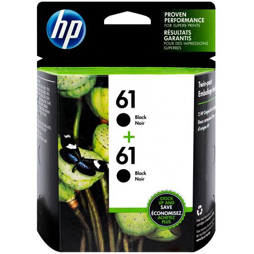 CZ073FN   HP 61   Original HP Dual Pack Ink Cartridges – Black