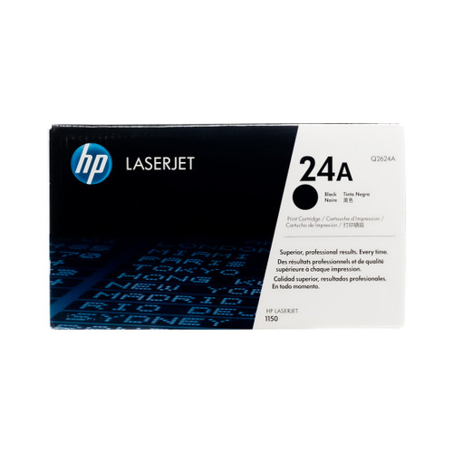 Original HP 24A Q2624A Black LaserJet Toner Cartridge