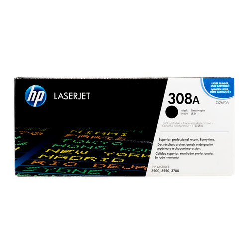 Original HP 308A Black Q2670A LaserJet Toner Cartridge