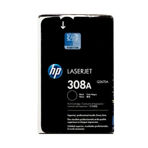 Original HP 308A Black Q2670A LaserJet Toner Cartridge
