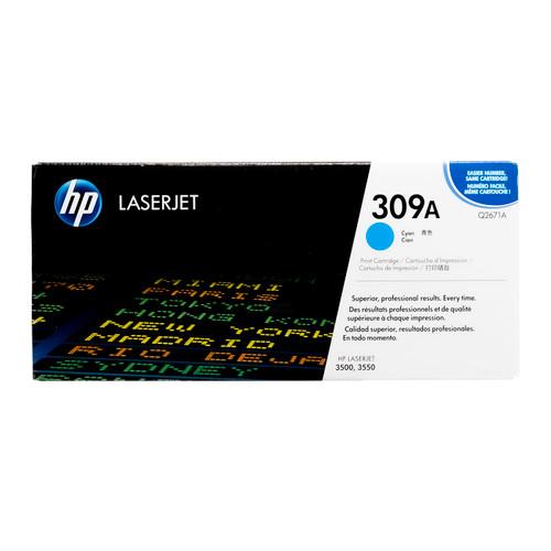 Original HP 309A Cyan Q2671A LaserJet Toner Cartridge