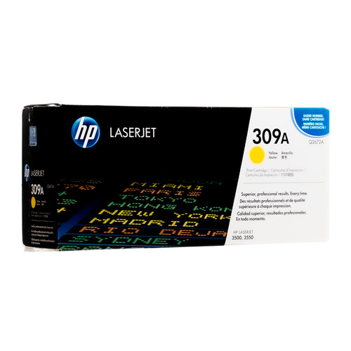 Original HP 309A Yellow Q2672A LaserJet Toner Cartridge