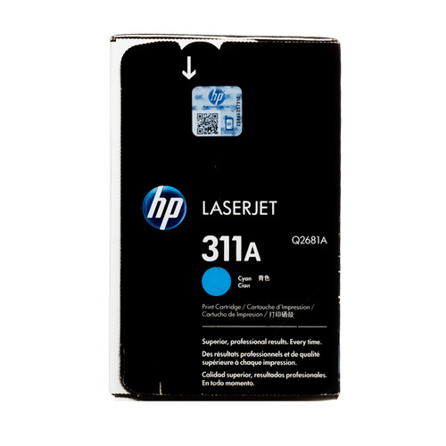 Original HP 311A Cyan Q2681A LaserJet Toner Cartridge