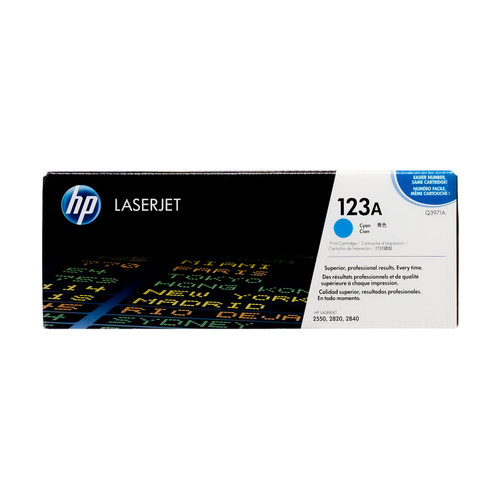 Original HP 123A Cyan Q3971A LaserJet Toner Cartridge