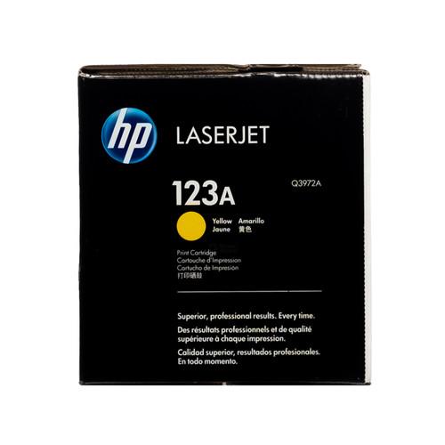 Original HP 123A Q3972A Yellow LaserJet Toner Cartridge