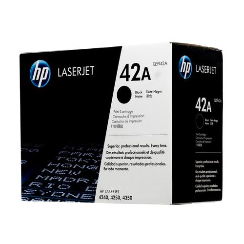 Original HP 42A Q5942A Black LaserJet Toner Cartridge