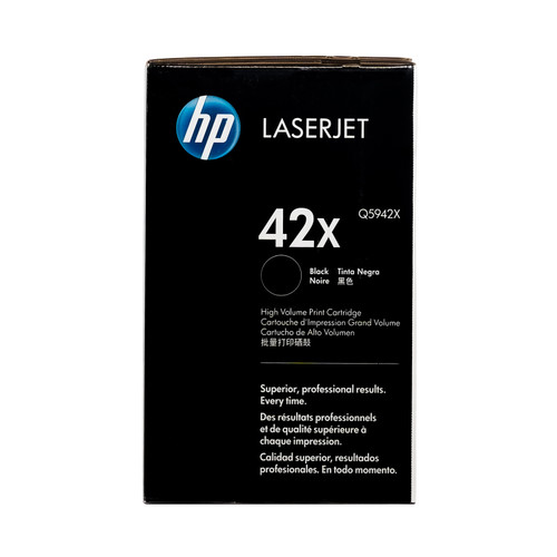 Original HP 42X Q5942X Black High-Yield LaserJet Toner Cartridge