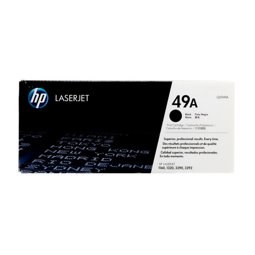 Original HP 49A Q5949A Black LaserJet Toner Cartridge