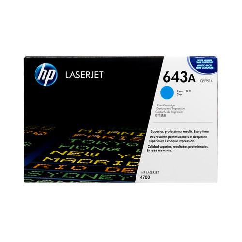 Original HP 643A Cyan Q5951A LaserJet Toner Cartridge
