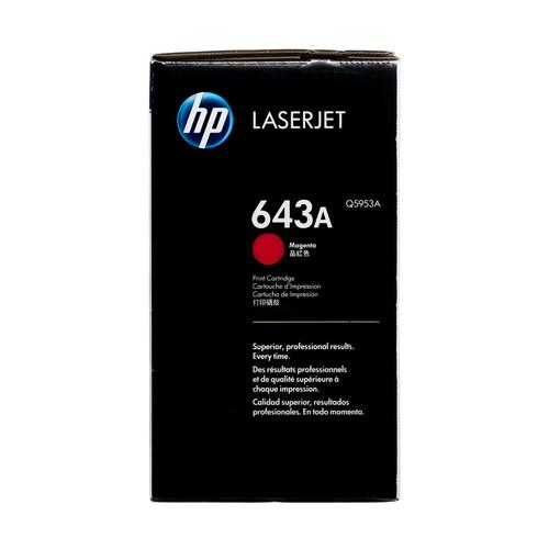 Original HP 643A Magenta Q5953A LaserJet Toner Cartridge
