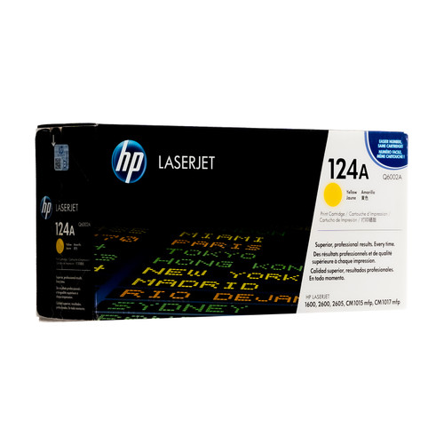 Original HP 124A Yellow Q6002A LaserJet Toner Cartridge