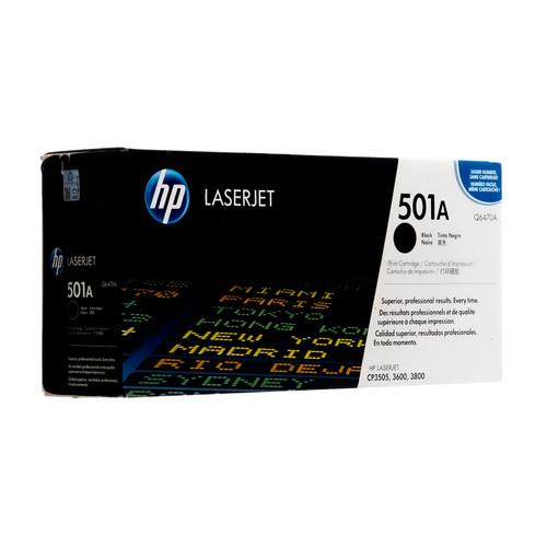 Original HP Black 501A Q6470A LaserJet Toner Cartridge