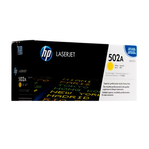 Original HP 502A Yellow Q6472A LaserJet Toner Cartridge