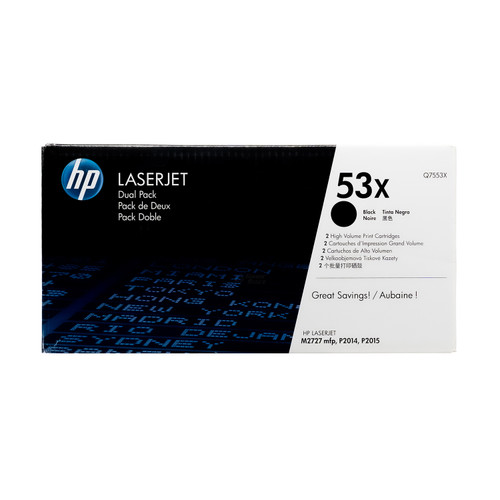 Q7553XD   HP 53X   Original HP High-Yield Dual Pack Toner Cartridges – Black