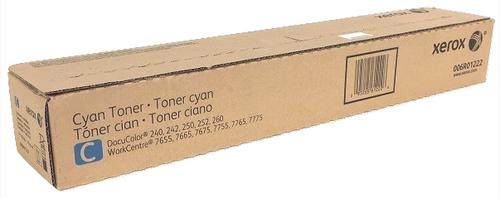 Original Xerox 006R01222 Docu240/Wc7765 Cyan Toner