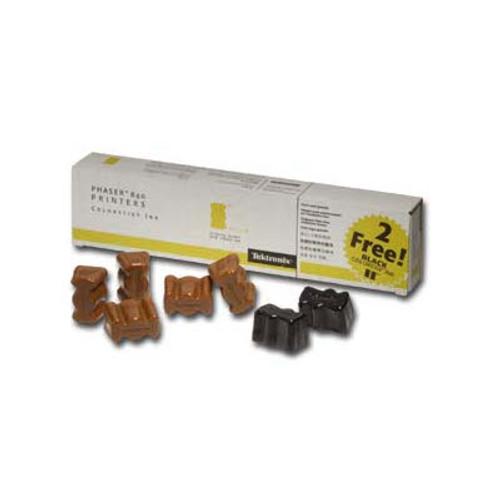 Original Xerox 016-1607-00 Phaser 840 Ink Sticks Box of 7, 5 Yellow 2 Black
