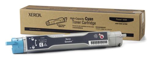 Original Xerox 106R01144 Cyan High-Capacity Laser Toner Cartridge for Phaser 6350