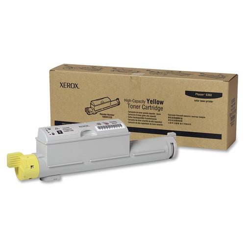 106R01220   Original Xerox High-Yield Laser Toner Cartridge - Yellow