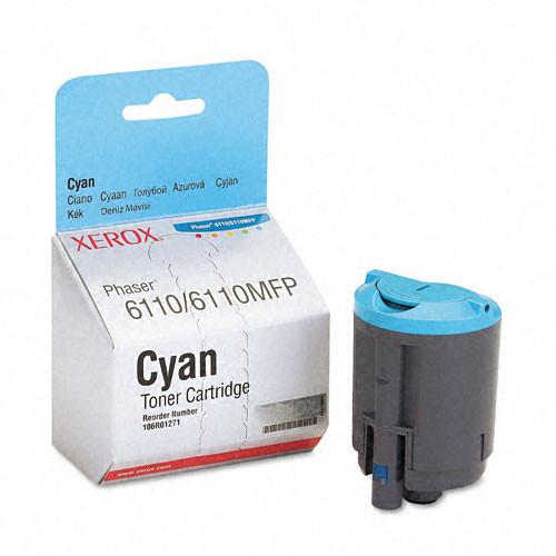 Original Xerox 106R01271 Cyan Laser Toner Cartridge for Phaser 6110/6110MFP Series
